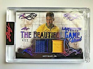 2021 Leaf Ultimate Sports Purple Spectrum Neymar Jr. Dual Jersey #4/12  SEALED
