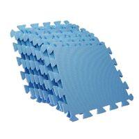 9 feuille de tapis de sol en mousse bleu anti-fatique EVA D5O8