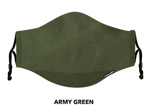 SUPALABS DEFEND Adult Face Mask Premium Covering 5 layers of protection - Green
