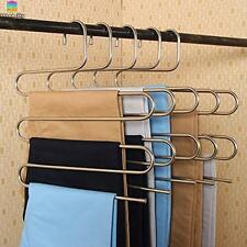 S Type Stainless Steel Magic Pants Hangers Closet Hangers for Jeans Scarf Tie