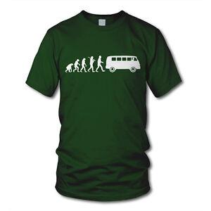 EVOLUTION KULT BUS - Oldtimer T-Shirt - Funshirt - Auto Hobby Tuning Hippie