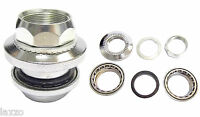"Bicycle Headset 1"" Threaded Steel Silver With Bearings 48mm"