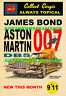 Corgi Toys 261 James Bond 1966 Aston Martin DB5 A3 Size Poster Advert Shop Sign