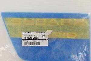SUBARU XV CROSSTREK LIFTGATE HATCH HYBRID EMBLEM 93079FJ130