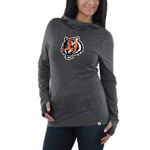 Cincinnati Bengals Women's Majestic Flex Cocoon Tri-Blend Sweatshirt - Charcoal