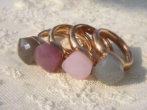 Qudo Firenze Ring Rosegold rose quartz opal - DER TREND!