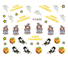 Nail Art Sticker Water Decals Transfer Stickers Happy Halloween Ghosts (E058)