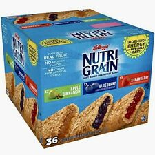 Kellogg's Nutri-Grain Cereal Breakfast Bars Variety Pack (1.3 oz. bar, 36 ct.)
