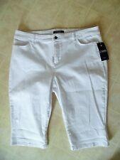 NWT Chaps Womens 16P  White Capri Pants Cotton Blend Stretch