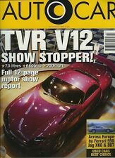 Autocar 23/10/96 *TVR Speed 12 & Fiat Coupe 20v Turbo*