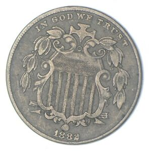 First US Nickel - 1882 - Shield Nickel - US Type Coin - Over 100 Years Old! *162