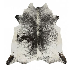 Gorgeous Black Salt and Pepper Rodeo Cowhide Rug
