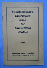 Matchless Ajs Amc Motorcycle Manual Book 350/500 Competition Twin Single Trials