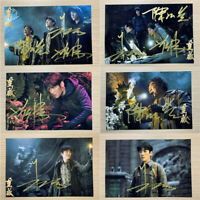NEW Time Raiders Map Zhang Qiling 张起灵 无邪 朱一龙Signature Autographed Photo Gift1 PC