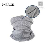 2 Pack Neck Gaiter Bandana Face Mask Cover Tube Scarf Balaclava Headband Sun UV