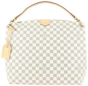 Louis Vuitton Damier Azur Graceful MM Hobo Bag 98lv41
