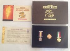 More details for gulf war gold sovereign 1982   2 miniature medals behind enemy lines rm set