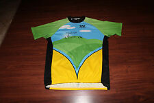 VOLER Cycle JERSEY Shirt  XL Polyester Green/Blue/Yellow Lincoln Hills Cyclists