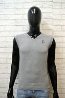 DIESEL Maglione Uomo Pullover Size M Sweater Cardigan Smanicato Elastico Cotone
