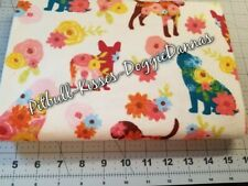 New listing Floral Dogs Flannel Flowers Dog Cat Bandana Over Collar Xs-L *New Fabric!*