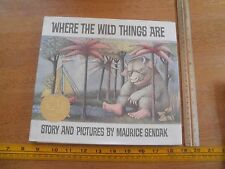 Where the Wild Things Are Caldecott Medal 1991 reprint edition HBDJ book Sendak
