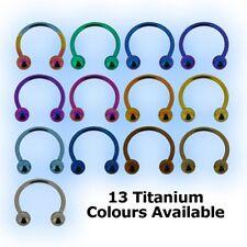 Titanium Circular Barbell CBB Horseshoe 1.2mm 16g Grade 23 6AL4V-ELi