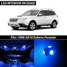 1998-2016 Subaru Forester Blue Interior LED Lights Package Kit