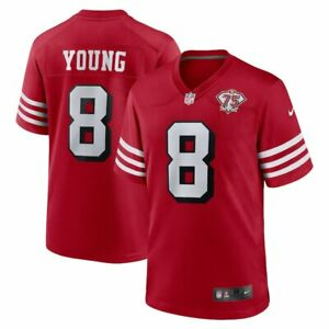 San Francisco 49ers Steve Young #8 Nike 75th Anniversary Alternate Game Jersey