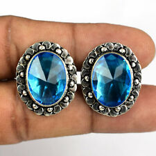 13x18 MM Blue Topaz Gemstone Handmade Cufflink VFC10