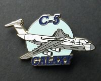 LOCKHEED GALAXY USAF AIR FORCE C-5 CARGO AIRCRAFT LAPEL PIN BADGE 1.5 INCHES