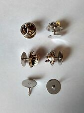 brass scatter blank pad tie tacks tacs pin back clothes jewelry finding brooches
