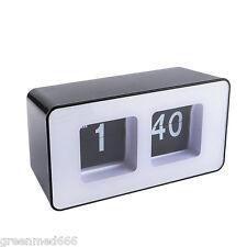 new Digital Stylish Modern Retro Auto Flip Clock File Down Page table Desk Clock