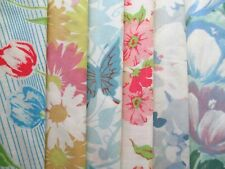 Lot of 6 Vintage Retro Pastel Floral Pillowcases