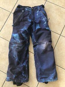 BURTON KIDS YOUTH GORE-TEX STARK SNOW PANT BLUE SIZE SMALL 7-8