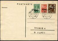 Deutsche Besetz.II.WK Litauen, 1941, 10, 13, SSR 456, Brief