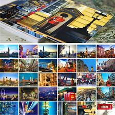 Lots 30pcs London UK City View Postcards Street Travel Landscape Post Card BULK