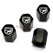 (4) Dodge Viper Old Style Logo Black ABS Tire/Wheel Stem Air Valve CAPS Covers