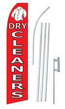 Dry Cleaners Tall Advertising Banner Flag Complete Sign Kit 25 Feet Wide