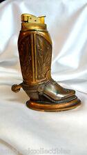 Vintage Brass Metal Evans Cowboy Boot Cigarette Lighter