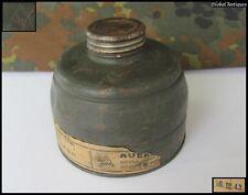 WWII 1943 ORIGINAL GERMAN WEHRMACHT GAS MASK FILTER CAN AUER