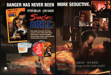 SUNSET GRILL__Original 1993 Trade Print AD movie promo__LORI SINGER_PETER WELLER