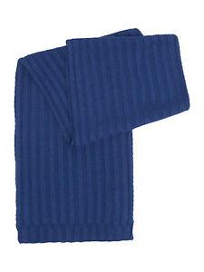 Criminal Men's Blue Ribbed Soft Touch Designer Scarf RRP £19 - Free UK Shipping