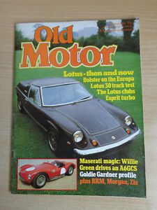 Old Motor Magazine Oct 1981 - Lotus Europa,2CV & Dyane,Maserati A6GCS,Zis