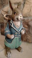 "NIB Large 16"" Blue Coat Boy Peter RABBIT Bunny Basket Easter Spring Decor Figure"