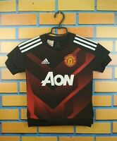 Manchester United Jersey 2018 Shirt Youth 7-8 BS2594 Soccer Football Adidas