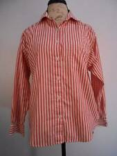 Beautiful Women's PM Talbots Red & White Striped Long Sleeve Blouse GUC