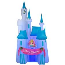 New 8' Projection Cinderella's Castle Christmas Airblown Inflatable - Yard Decor