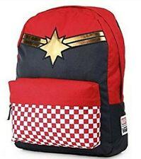 Vans Captain Marvel Backpack School Bag Skate New Red Check Checkerboard NWT