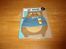 Small Birthday card,50 Today,(inside Message) Happy birthday,