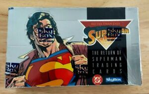 Return of Superman Factory Sealed 36 Pack Box 1993 Skybox DC